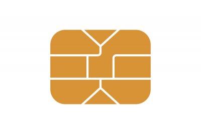 Papiers peints EMV chip icon for bank plastic credit or debit charge card. Vector illustration