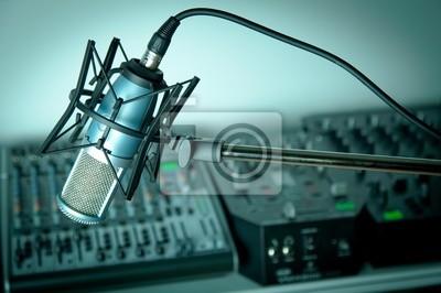En studio de radio