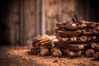 Papiers peints Encore, vie, cassé, chocolat, barre