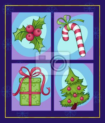 ensemble d'images colorées de Noël