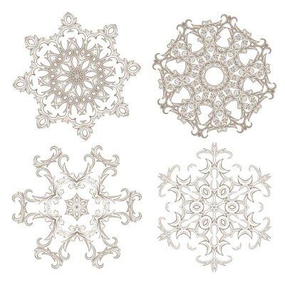 Papiers peints Ensemble d'ornement géométrique circulaire.