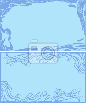 ensemble de abstrait bleu