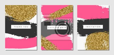 Ensemble de cartes de conception abstraite