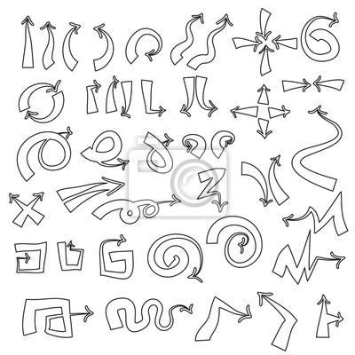 Ensemble de contour, flèches universels symboles, mince, noir sur blanc b