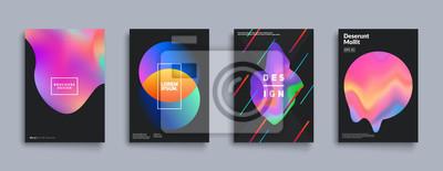 Papiers peints Ensemble de couvertures de couleur liquide. Composition de formes fluides. Affiches de design futuristes. Eps10 vecteur.