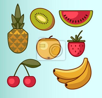 ensemble de fruits d'été