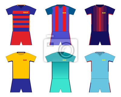 Ensemble De Kit De Football Barcelone Papier Peint Papiers Peints