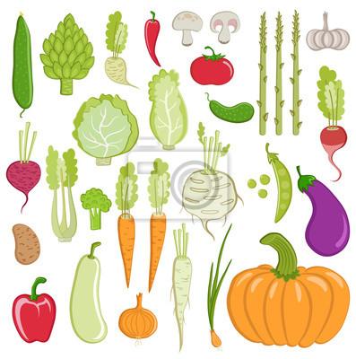 ensemble de légumes sains