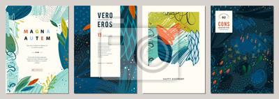 Papiers peints Ensemble de modèles artistiques universels créatifs abstraits.