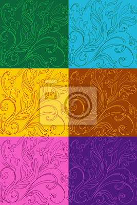 ensemble de modèles avec des dessins multicolores