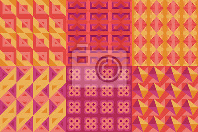 ensemble de motifs géométriques numéro 2
