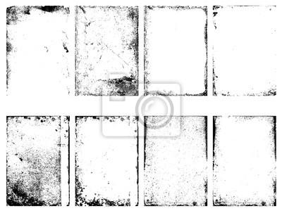 Papiers peints Ensemble des textures grunge vecteur isolé sur fond blanc.