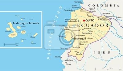 Equateur Et Galapagos Islands Carte Papier Peint Papiers Peints