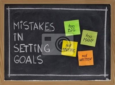 Papiers peints erreurs dans l'établissement des objectifs