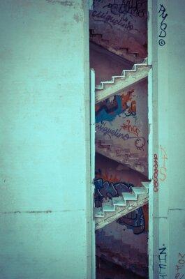 Papiers peints escalier décomposé