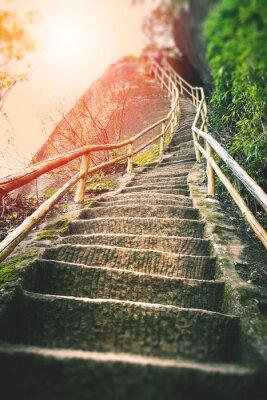 Papiers peints Escaliers sur la montagne