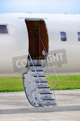 Papiers peints Escaliers sur un avion jet privé de luxe - Bombardier Global Express