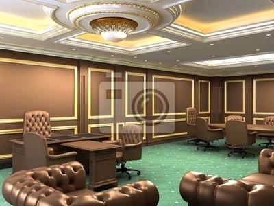 Espace de bureau intérieur appartement royal avec des meubles