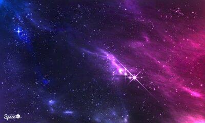 Papiers peints Espace profond. Vecteur, Illustration, cosmique, nébuleuse, étoile, amas