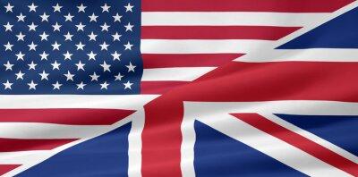 Papiers peints États-Unis - Royaume-Uni - Flagge