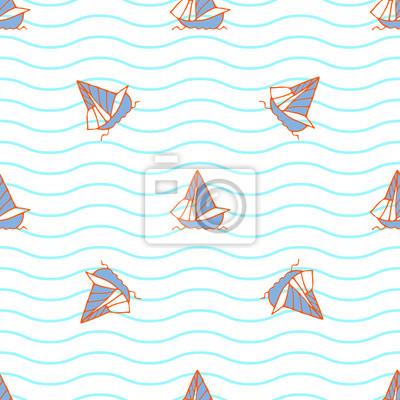 Été mer nautique seamless fond