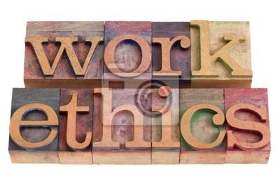 Papiers peints éthique de travail