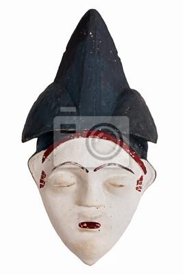 Ethnique masque à l'argile de l'Afrique