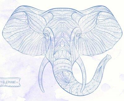 Papiers peints Ethnique, modèle, tête, éléphant, grange, fond, africain, indien, totem, tatouage, conception Utilisation pour l'impression, affiches, t-shirts.