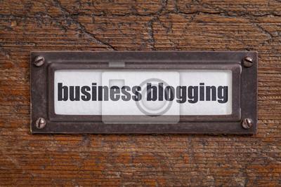 Papiers peints étiquette de blogs d'entreprise