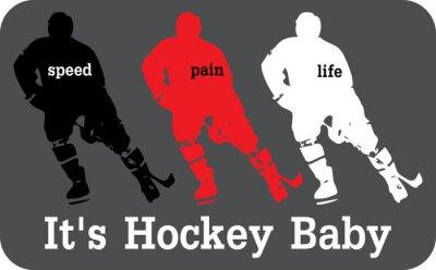Papiers peints étiquette de hockey