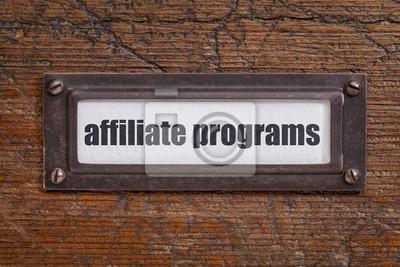 Papiers peints Étiquette programmes d'affiliation