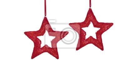 Étoiles de Noël rouges