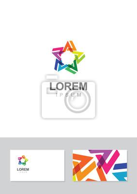 Papiers Peints Etoiles Icone Element De Design Avec Le Modele Carte Visite