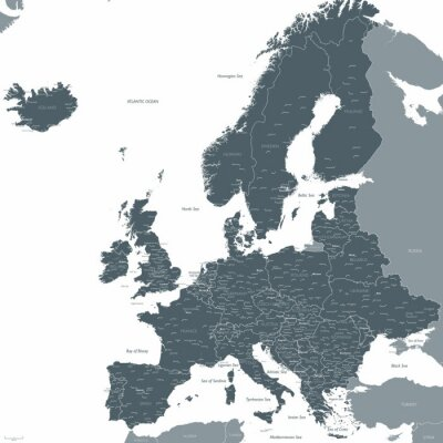 Papiers peints Europe, carte, vecteur