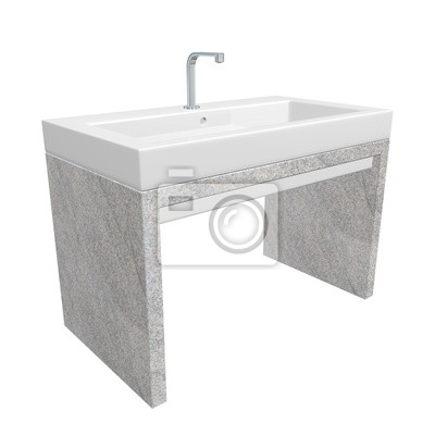 Papiers peints: Évier de salle de bain moderne avec céramique ou en  acrylique