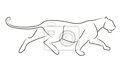 Ex cuter le l opard en ligne noire sur fond blanc dessin la papier peint papiers peints - Image leopard a imprimer ...