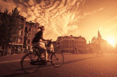 Papiers peints Faire du vélo dans la ville