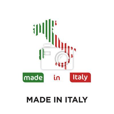 Fait En Italie Logo Isole Sur Fond Blanc Icone De Vecteur Colore
