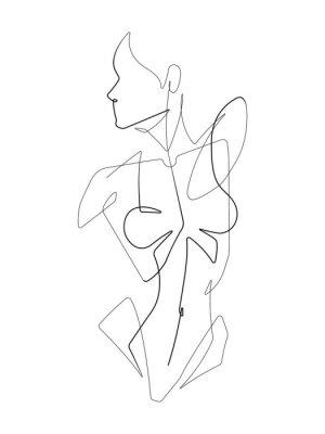Papiers peints Female Figure One Continuous Line Vector Graphic Illustration