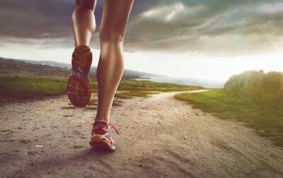 Papiers peints Female Jogger on coastal path