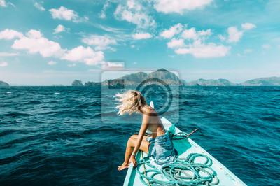 Papiers peints Femme, voyage, bateau, Asia