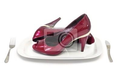 femmes chaussures rouges à talons hauts