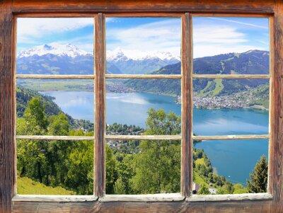 Papiers peints Fenêtre donnant sur Zell am See
