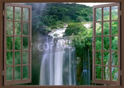 Papiers peints Fenêtre ouverte sur les spectaculaires chutes Magwa près de Mbotyi Cape Province, Afrique du Sud