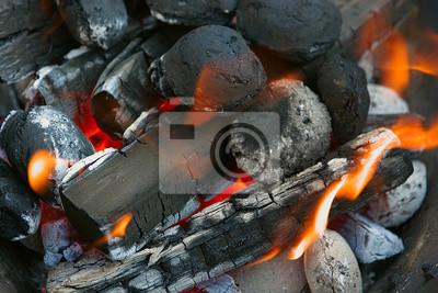 feu, les charbons brûlants
