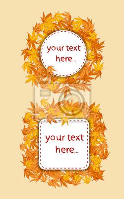 feuilles d'automne carte