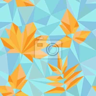 feuilles d'automne de style de triangle
