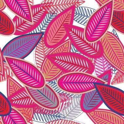 Papiers peints feuilles roses