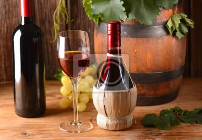 Fiasco di vino rosso