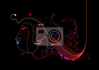Fibres circulent abstraite
